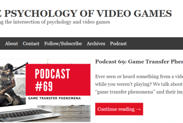 GTP on the Psychology of Video Games Podcast