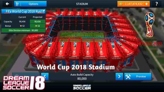 Change Dream League Soccer Stadium