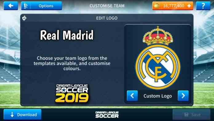 Real Madrid 2018-2019 Logo & Kits For Dream League Soccer