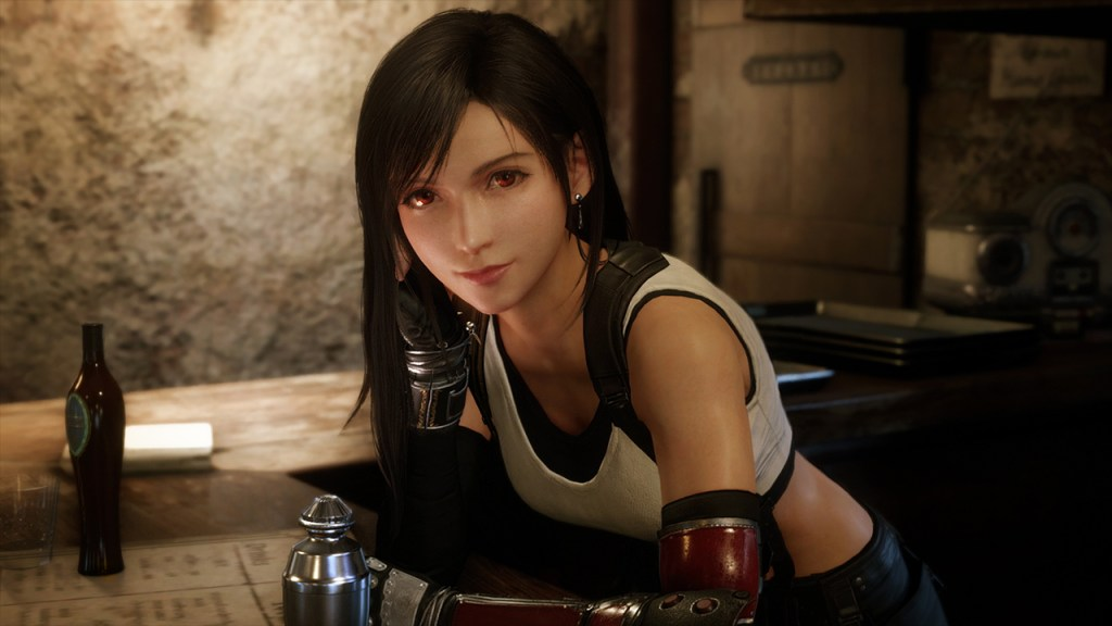 Tifa Lockhart in Final Fantasy 7 Remake - Most Beautiful Final Fantasy Female Characters - Hot Lovely Fantasy Girls Anime