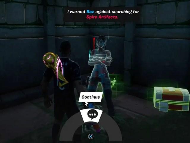 Lara Croft Raz Information on Fortnite Season 6 Chapter 2 Quests
