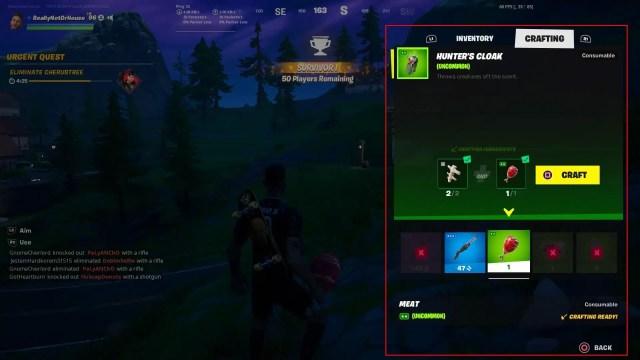 How to craft Hunter's Cloak in Fortnite