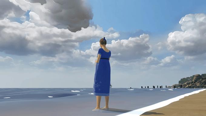 物語は、海辺に佇む妊婦のシーンから始まる。