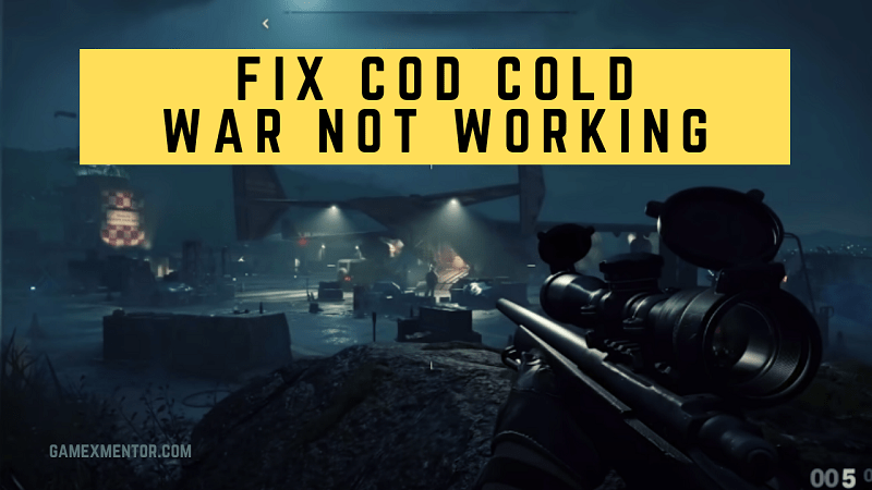 Fix Call of Duty Cold War Not working