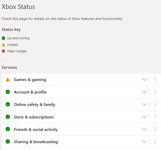 xbox server status