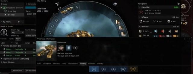 Überladener EVE Online Screen