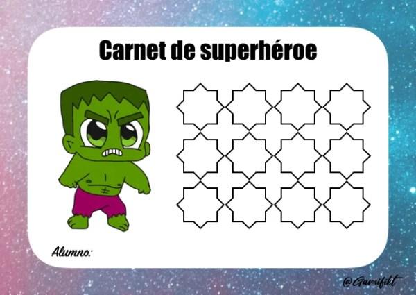 carnet superhéroes