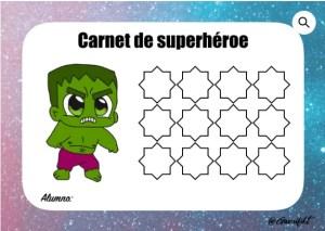 carnet superhéroe