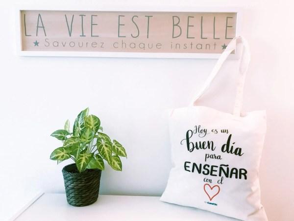 tote bag con diseño para profesores
