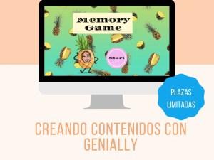 """WEBINAR """"CREANDO CONTENIDOS CON GENIALLY"""""""