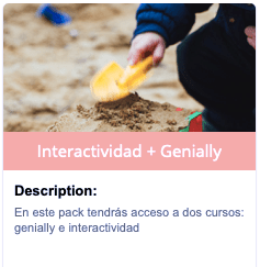 Pack curso Genially + Interactividad