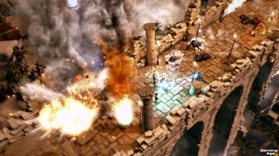 Lara Croft Temple of Osiris_Bridge_Battle_Zoom