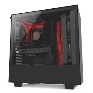 boitier nzxt h500 noir rouge