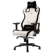 NobleChairs EPIC Series Faux Leather Gamingstol – Vit