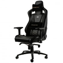 NobleChairs EPIC Series Faux Leather Gamingstol – Svart/Guld