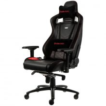 NobleChairs EPIC Series Faux Leather Gamingstol – Svart/Röd
