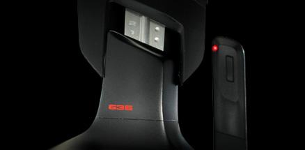 Close up of audio stauts indicator of mic