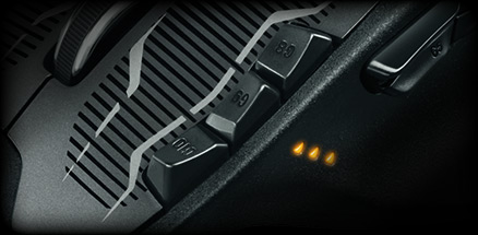 G700s close up of DPI buttons designed for in game switching