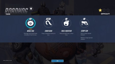 Roadhog Tank Abilities Overwatch