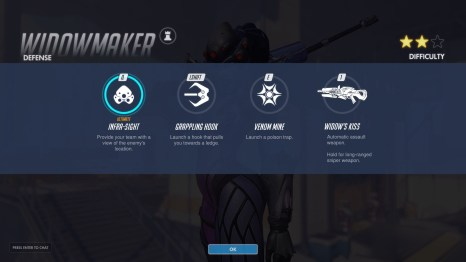 Widowmaker Defence Abilities Overwatch