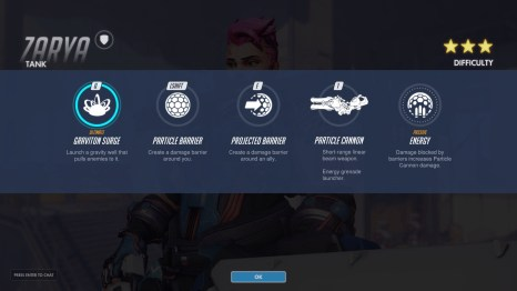 Zarya Tank Abilities Overwatch