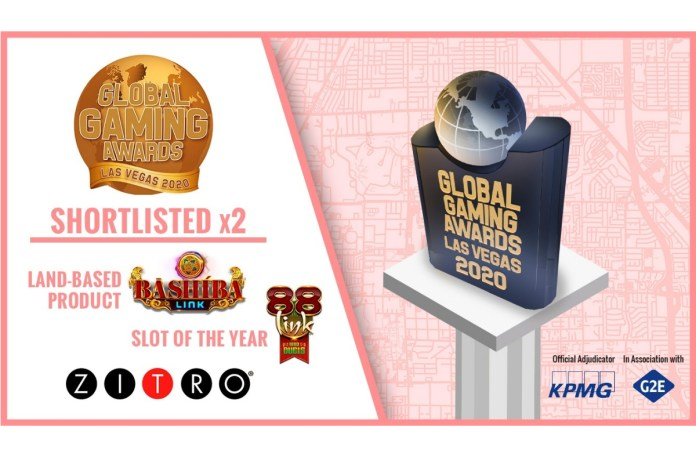 ZITRO RECEIVES 2 NOMINATIONS FOR THE GLOBAL GAMING AWARDS LAS VEGAS 2020