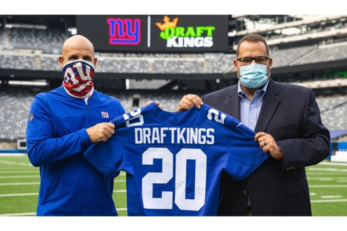 DraftKings and New York Giants Announce Official, Exclusive Sports Betting Deal
