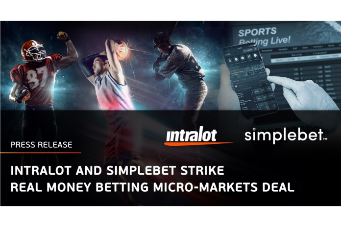INTRALOT and Simplebet Strike Real Money Betting Micro-Markets Deal