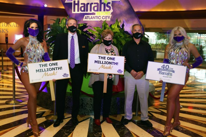 Caesars Entertainment Atlantic City Reaches Milestone of Distributing One Million Masks to its Employees and Customers