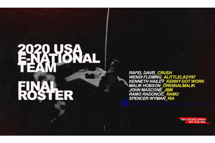 Inaugural Seven-Member USA Basketball E-National Team Unveiled