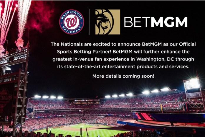 Washington Nationals and BetMGM Announce Exclusive Multi-Year Partnership