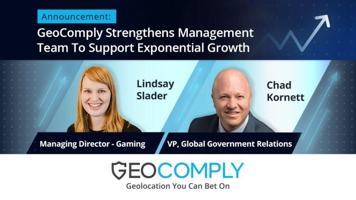 GeoComply Strengthens Management Team with Lindsay Slader and Chad Kornett