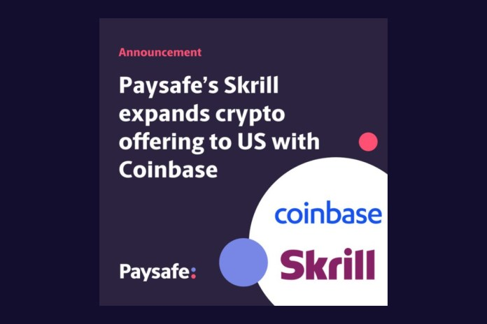 Skrill expands crypto offering to US with Coinbase