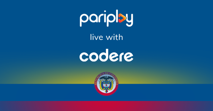 Pariplay games go live in Colombia with Codere