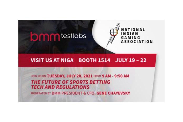 BMM Testlabs set to exhibit at NIGA 2021 in Las Vegas