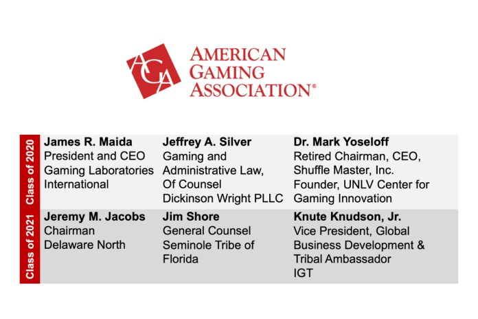 American Gaming Association Announces Gaming Hall of Fame Inductees