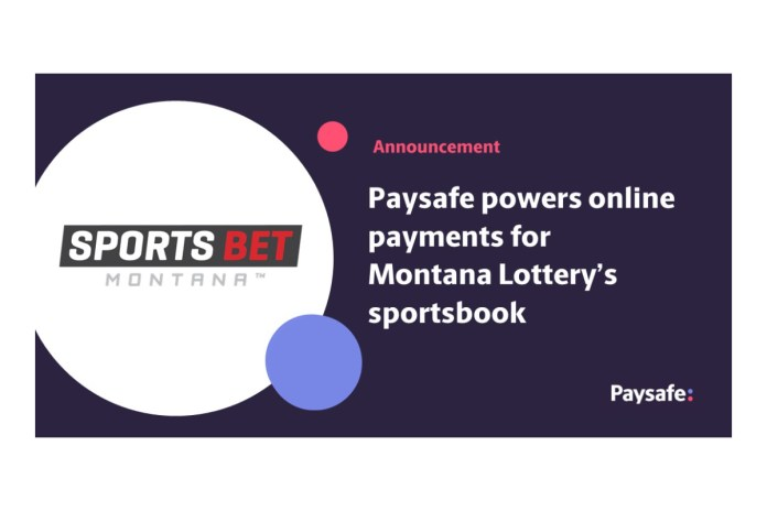 Paysafe powers online payments for Montana Lottery's sportsbook