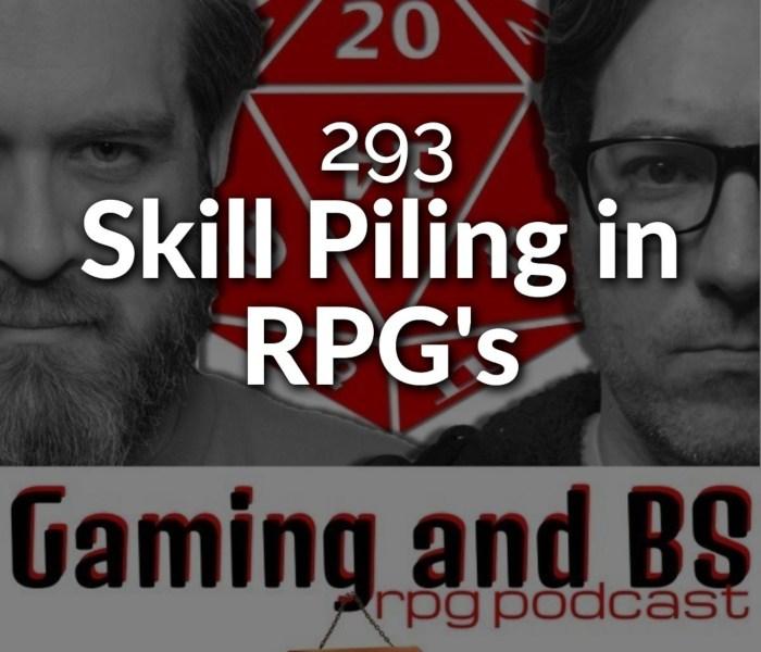 skill piling in rpg's album art