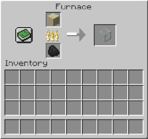 How to make glass bottle in Minecraft
