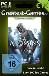 Game-Card für Assassins Creed bzw. 10 Euro. (Foto: Softdistribution GmbH)