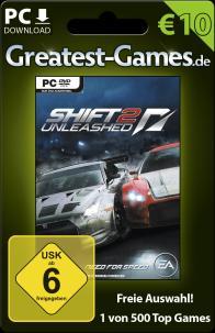Game-Card für Need for Speed Shift 2 bzw. 10 Euro. (Foto: Softdistribution GmbH)