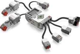 Die Brick verbindet alle Sensoren und Motoren miteinander. (Foto: LEGO)