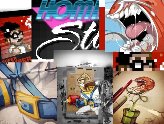 Einige Beispiele des Künstlers Hombre. (Foto: welove8bit.blogspot.de)
