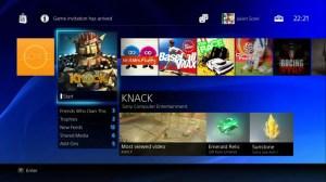 Das neue Menü der PS4. (Foto: Sony)