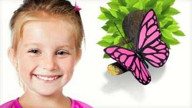 Wie süß! Ein Schmetterling im Zimmer! (Foto: 3dlightfx.com)