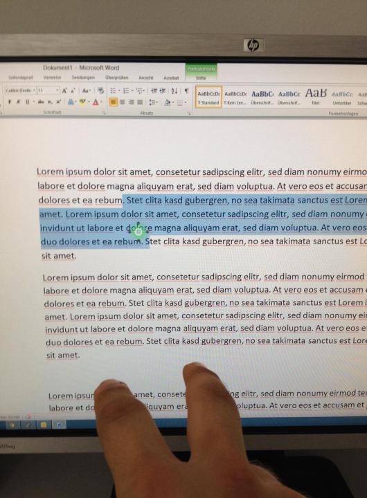 Texte mit Gesten bearbeiten - es ist recht einfach. (Foto: GamingGadgets.de)