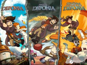 Poster: 3x Deponia (Foto: Daedlic Entertainment)