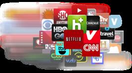 Streaming-Dienst auf dem großen TV (Foto: plair.com)