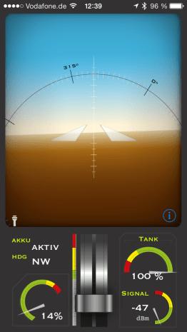 Diese App verwendet ihr zum Fliegen und Steuern. (Foto: GamingGadgets.de)