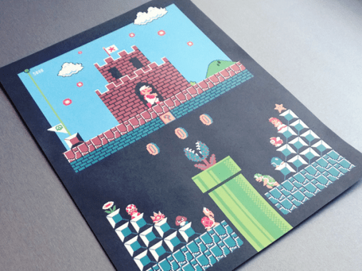 Super Mario Level One Poster. (Foto: Harlan Elam)